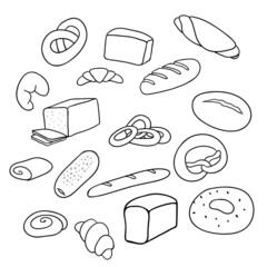 different varieties of bread