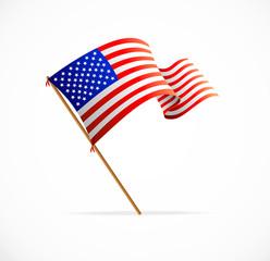 Vector waving American Flag (Flag of USA)