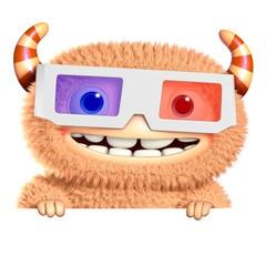 Spoed Fotobehang Sweet Monsters 3d cartoon monster