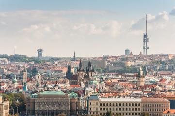 Cityscape view of Prague, Czech Republic
