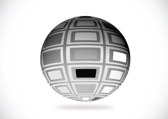 Abstract 3d sphere illustration for your design