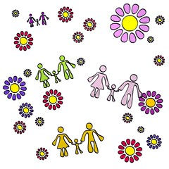 spring flower family  collectrion