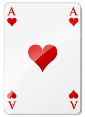Vector ace of hearts