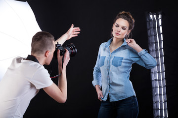 Photosession for fashion magazine