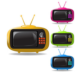 some TV sets animation vector