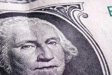 One dollar bill clo up, Franklin
