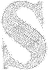 Freehand Typography Letter s