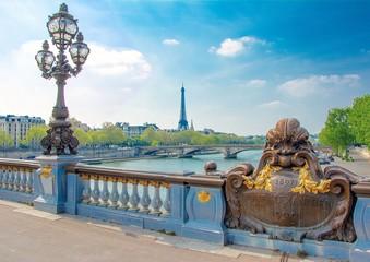 Fotomurales - Pont Alexandre-III à Paris en France