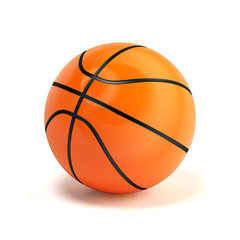 Shiny glossy basketball ball