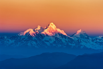 Wall Murals Nepal Himalayan Mountains View from Mt. Shivapuri