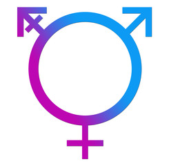 Third Gender Blue Pink Circle