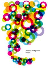 colorful bright bubbles vector background