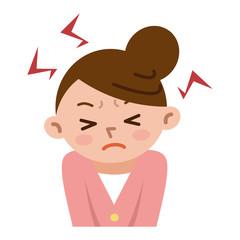 ストレスが溜まった女性