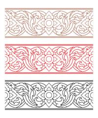 Complementary Line Thai art illustration.