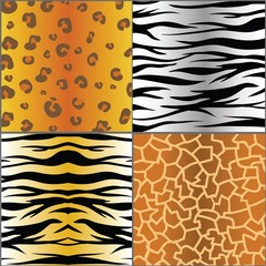 set of animal skins