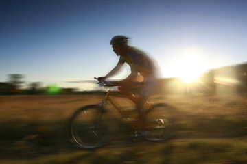 Fototapete - motion cyclist