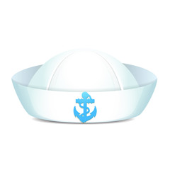 Peaked sailor hat with blue anchor