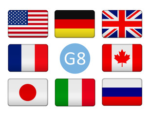 Flags of the Group of Eight