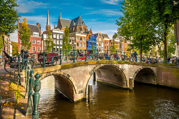 Printed roller blinds Amsterdam Amsterdam cityscape