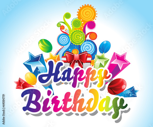 Happy Birthday Card Background Stock Image And Royalty Free Vector