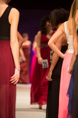 Details of clothing during a fashion show