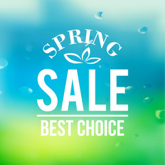 Spring sale background with text