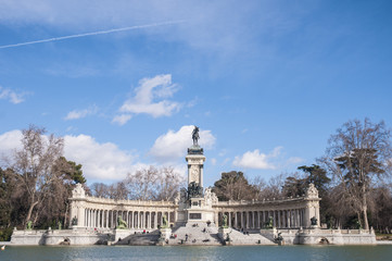 Alfonso XII statue on Retiro Park in Madrid.