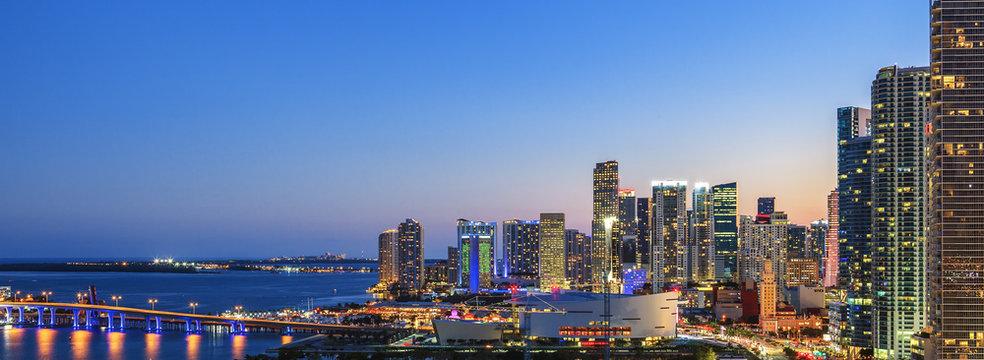 Panoramic view of Miami