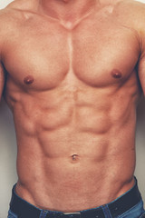 A muscled chest of a man