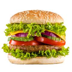 Wall Mural - Homemade burger isolated