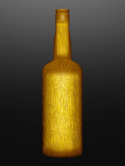 gold wrapped bottle
