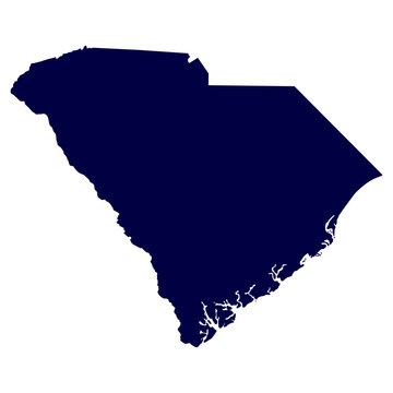 map of the U.S. state of South Carolina