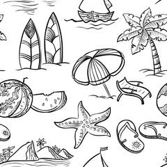 doodle summer seamless
