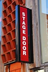 Stage door sign, Lichfield, UK © Arena Photo UK