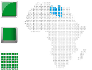 Libya on map of Africa