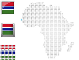 Gambia on map of Africa