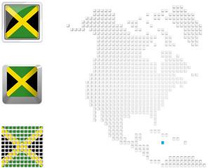 Jamaica on map of North america