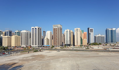 Residential buildings in the city of Abu Dhabi, UAE