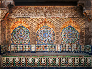 Wall Mural - Ancient Arabic niche with mosaic in Medina. Tangier, Morocco