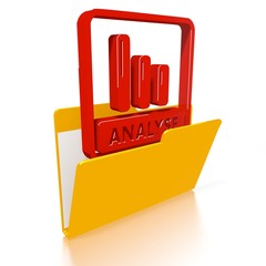 file folder with analyse German for analysis icon