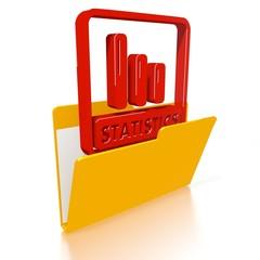 file folder with statistics icon