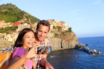 Selfie - couple taking picture in Cinque Terre