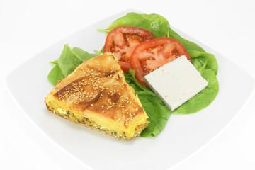 Traditional greek spinach pie ( spanakopita )