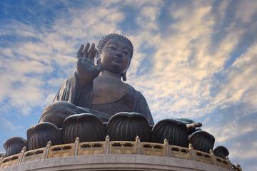 giant bronze buddha statue, Lantau Island, Hong Kong