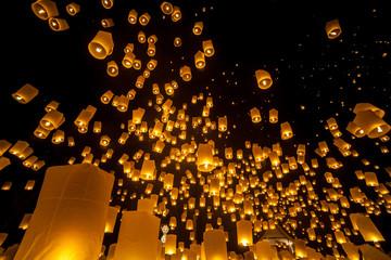 Loi Krathong and Yi Peng Festival, Chiang mai, Thailand