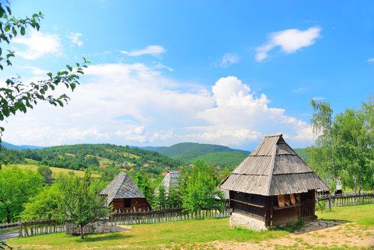 Sirogojno, Serbia, medieval old traditional village