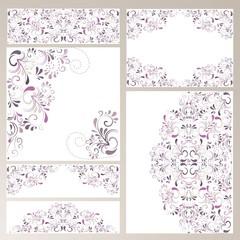 Set mit 6 Hintergründen aus Ornamenten