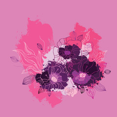 Decorative floral background.