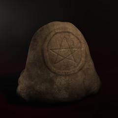 Steinsäule Pebtagramm