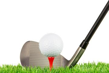 golfball, tee und golfschläger